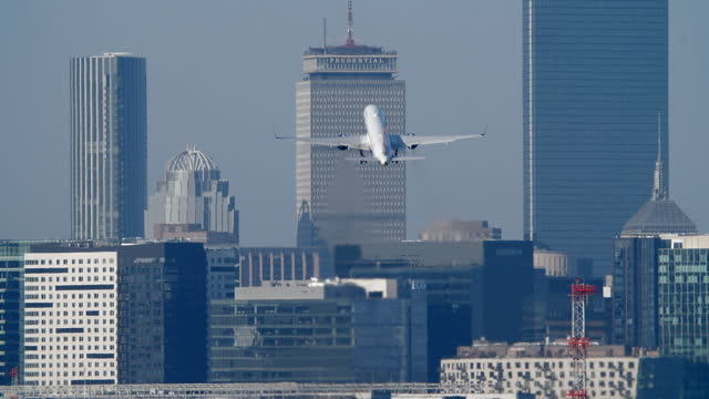 delta air lines plane taking off - massachusetts stock videos & royalty-free footage