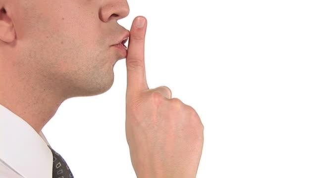 vídeos y material grabado en eventos de stock de hd: exigentes silencio - dedo sobre labios