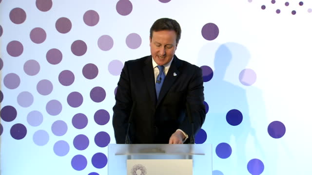dementia summit sets targets for treatment and cure; london: ext david cameron mp and jeremy hunt mp arriving at summit int cameron and hunt along to... - human stage stock videos & royalty-free footage