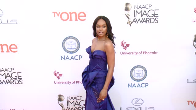 stockvideo's en b-roll-footage met demetria mckinney at the 46th annual naacp image awards arrivals at pasadena civic auditorium on february 06 2015 in pasadena california - pasadena civic auditorium