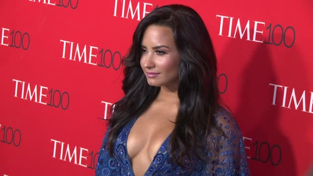 Demi Lovato at 2017 Time 100 Gala at Jazz at Lincoln Center on April 25 2017 in New York City