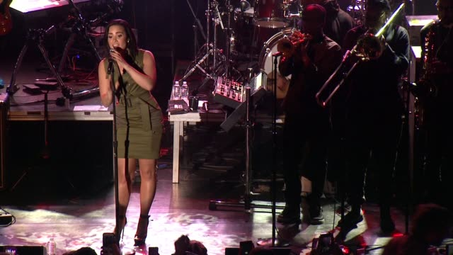 PERFORMANCE Demi Lovato at Demi Lovato Nick Jonas Future Now The Tour Launch Party at Irving Plaza on October 26 2015 in New York City