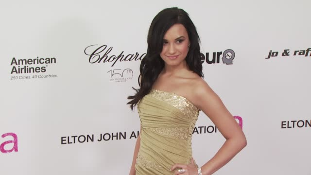 Demi Lovato at the 18th Annual Elton John AIDS Foundation Oscar Party at West Hollywood CA