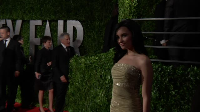 Demi Lovato at the 2010 Vanity Fair Oscar Party Hosted By Graydon Carter at West Hollywood CA