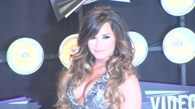 Demi Lovato at the 2011 MTV Video Music Awards at Los Angeles CA