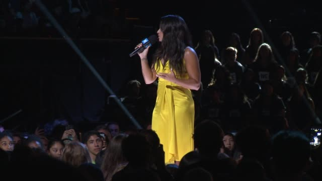 SPEECH Demi Lovato at WE Day California 2017 at The Forum on April 27 2017 in Inglewood California