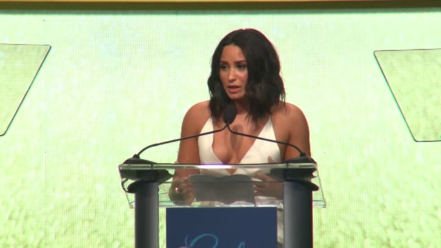PERFORMANCE Demi Lovato on the importance of the event at the UCLA Semel Institutes 'Open Mind Gala' at The Beverly Hilton Hotel on March 22 2017 in...