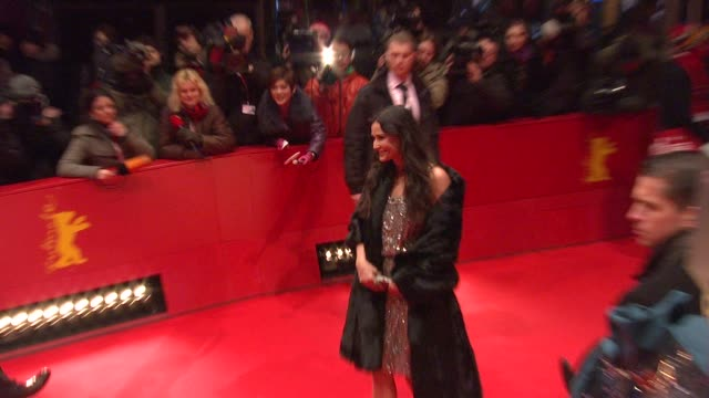 demi moore and ashton kutcher at the 59th berlin film festival happy tears red carpet premiere at berlin - ashton kutcher stock videos and b-roll footage