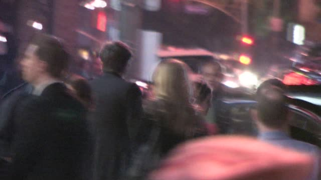 demi moore and ashton kutcher outside the arclight hollywood cinema at the celebrity sightings in los angeles at los angeles ca - ashton kutcher stock videos and b-roll footage