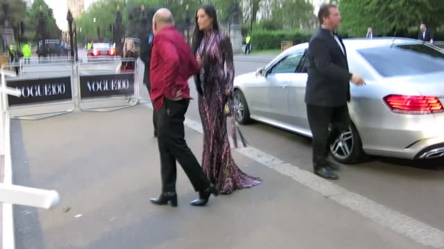 Demi Moore arrives at the Vogue 100 Gala Dinner at Celebrity Sightings in London on May 23 2016 in London England