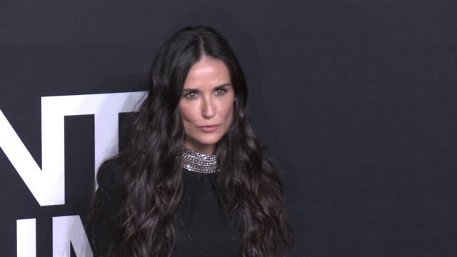 Demi Moore at Saint Laurent Event at Hollywood Palladium on February 10 2016 in Los Angeles California