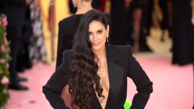 Demi Moore at The 2019 Met Gala Celebrating Camp Notes on Fashion Arrivals at Metropolitan Museum of Art on May 06 2019 in New York City