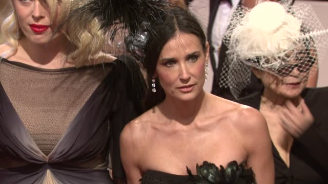 demi moore at the 'alexander mcqueen: savage beauty' costume institute gala at the metropolitan museum of art at new york ny. - demi moore stock videos & royalty-free footage