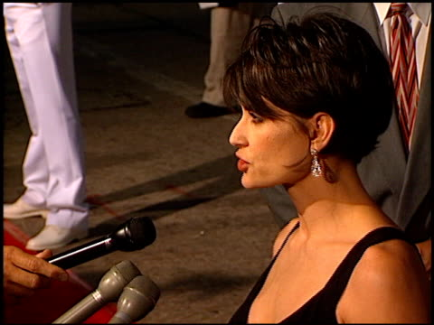 Demi Moore at the 'GI Jane' Premiere at the Mann Village Theatre in Westwood California on August 6 1997