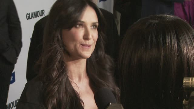 Demi Moore at the Glamour Reel Moments at Los Angeles CA