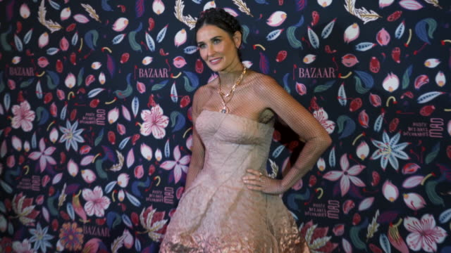 demi moore at the harper's bazaar exhibtion at musee des arts decoratifs in paris at musee des arts decoratifs on february 26, 2020 in paris, france. - demi moore stock videos & royalty-free footage