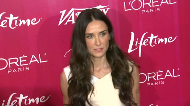 demi moore at the variety's 3rd annual 'power of women' luncheon at beverly hills ca. - demi moore stock videos & royalty-free footage