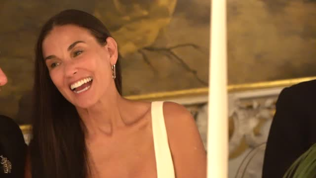 demi moore attends the celebration of women in cinema gala hosted by the red sea film festival during the 78th venice international film festival on... - red sea stock videos & royalty-free footage