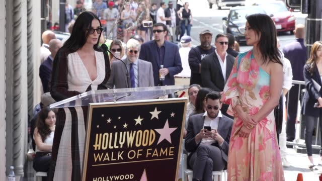 demi moore on lucy's career and their friendship at the lucy liu honored with a star on the hollywood walk of fame on may 01, 2019 in hollywood,... - lucy liu stock videos & royalty-free footage