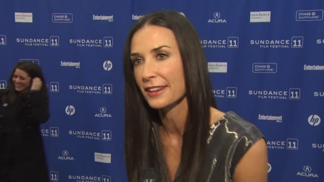demi moore on the event. at the 'margin call' premiere - 2011 sundance film festival at park city ut. - demi moore stock videos & royalty-free footage