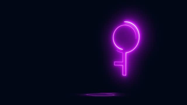 demigirl - gender symbol stock videos & royalty-free footage