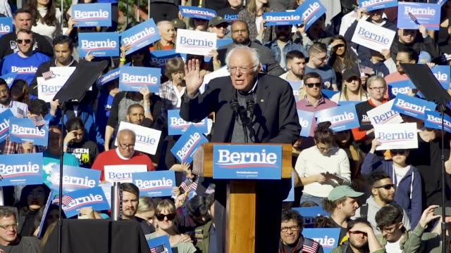 democratic 2020 presidential candidate senator bernie returns to the campaign trail after health problems – holds rally in queensbridge park in... - political rally stock videos & royalty-free footage