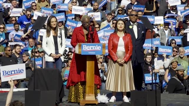 democratic 2020 presidential candidate senator bernie returns to the campaign trail after health problems – holds rally in queensbridge park in... - election stock videos & royalty-free footage