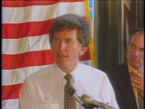 democratic candidate gary hart criticizes candidate walter mondale for use of political action committee funds. - political action committee stock videos & royalty-free footage