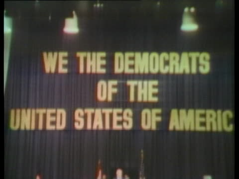 democratic chairman robert strauss delivers a heartfelt speech about party unity at the 1974 democratic convention in kansas city. - united states and (politics or government) stock videos & royalty-free footage