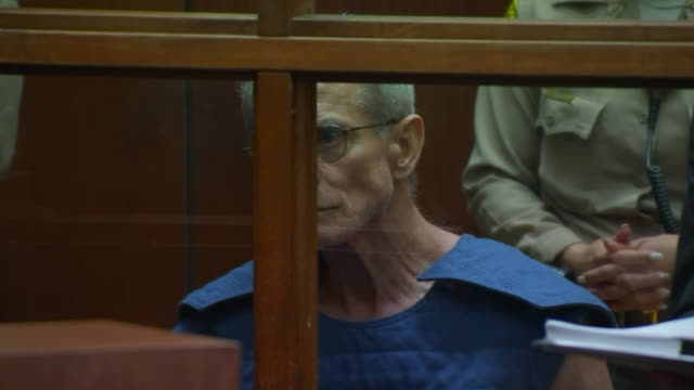 democratic donor ed buck sits in court during his arraignment for battery charges in los angeles, california. - crime or recreational drug or prison or legal trial 個影片檔及 b 捲影像