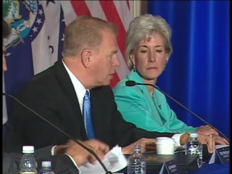 democratic governors meet at the democratic governors economic discussion in chicago, illinois. - business or economy or employment and labor or financial market or finance or agriculture stock videos & royalty-free footage