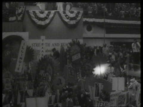 democratic national convention with johnson family / 1960's / sound - 1964 stock videos & royalty-free footage