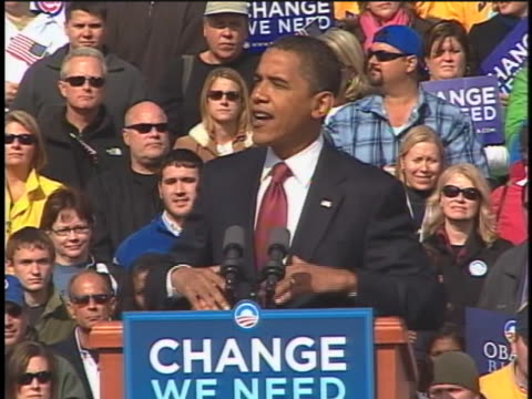 democratic party presidential candidate barack obama speaks about improving education in an indianapolis, indiana, rally. - 2008 stock videos & royalty-free footage