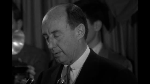 vidéos et rushes de sot democratic party presidential candidate gov adlai stevenson concession that you may be the servant and guardian of peace and make the vale of... - adlai stevenson