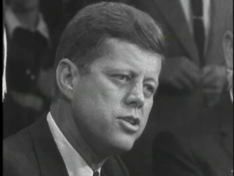 democratic party presidential candidate john f. kennedy campaigns in maine, speaking of his experiences that make him a solid candidate and... - business or economy or employment and labor or financial market or finance or agriculture stock videos & royalty-free footage