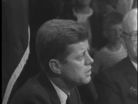 stockvideo's en b-roll-footage met democratic party presidential candidate john f kennedy campaigns in maine speaking of his roman catholic faith - sport