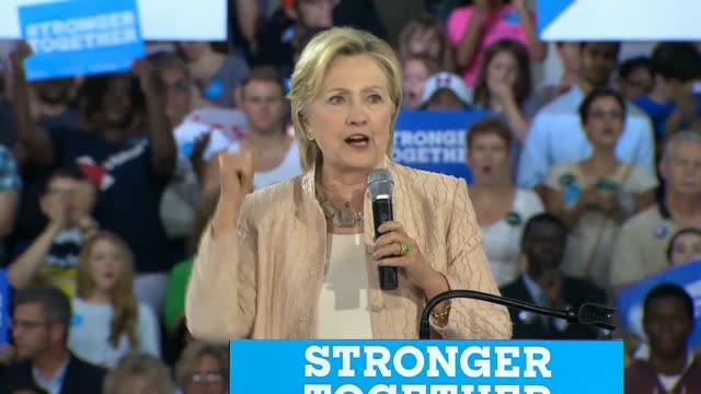 democratic party presidential nominee hillary clinton tells an audience at john marshall high school in cleveland that college should be affordable... - community college stock videos & royalty-free footage