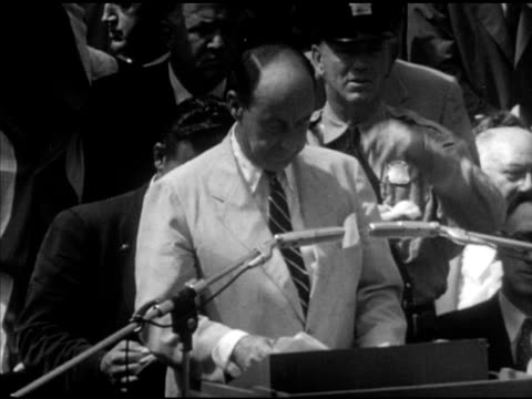 s democratic presidential candidate adlai stevenson ii at podium speaking about progress not just for democratic party but for nation campaign speech... - adlai stevenson ii stock videos and b-roll footage