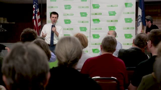 democratic presidential candidate and south bend indiana mayor pete buttigieg hosts a town hall meeting at the lions den on april 15 2019 in fort... - local government building stock videos & royalty-free footage