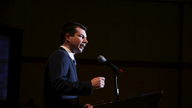 democratic presidential candidate and south bend, indiana mayor pete buttigieg speaks at the rainbow push coalition annual international convention... - south bend indiana stock videos & royalty-free footage