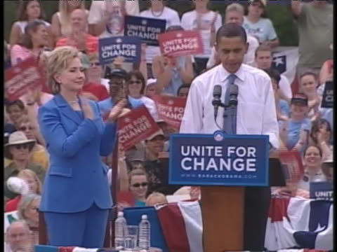 democratic presidential candidate barack obama speaks at the 2008 unity rally. - united states and (politics or government) stock videos & royalty-free footage
