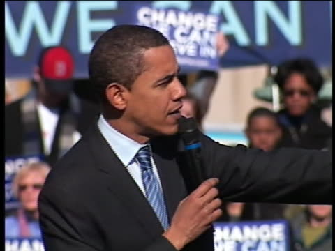 democratic presidential candidate barack obama talks about challenging the special interest groups in washington, d.c. while campaigning in... - united states and (politics or government) stock videos & royalty-free footage