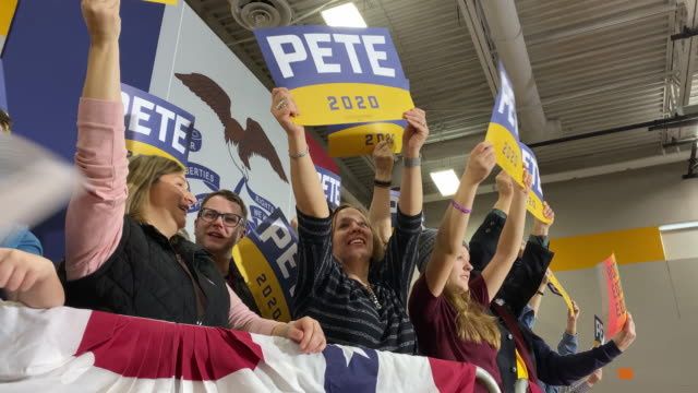 democratic presidential candidate former south bend, indiana mayor pete buttigieg speaks at a town hall event at maple grove elementary school... - south bend indiana stock videos & royalty-free footage