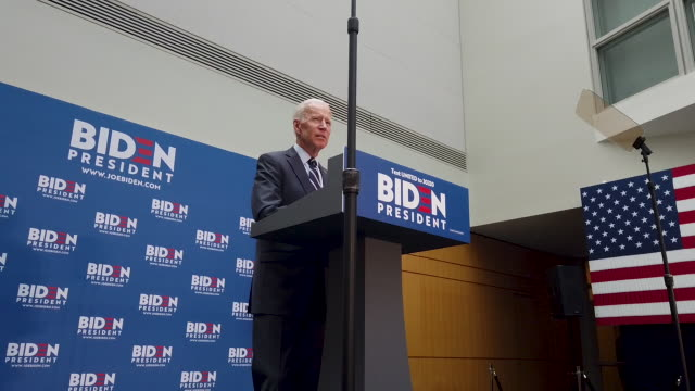 democratic presidential candidate former vice president joe biden gives a speech on his foreign policy plan on july 11 2019 in new york city biden... - presidential election stock videos and b-roll footage