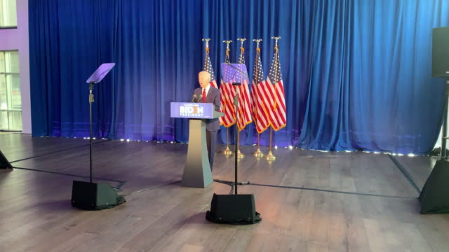 democratic presidential candidate, former vice president joe biden delivers remarks on the trump administration's recent actions in iraq on january... - joe 03 stock videos & royalty-free footage