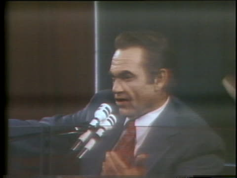 democratic presidential candidate george wallace campaigns for the 1976 presidential nomination - (war or terrorism or election or government or illness or news event or speech or politics or politician or conflict or military or extreme weather or business or economy) and not usa stock videos & royalty-free footage