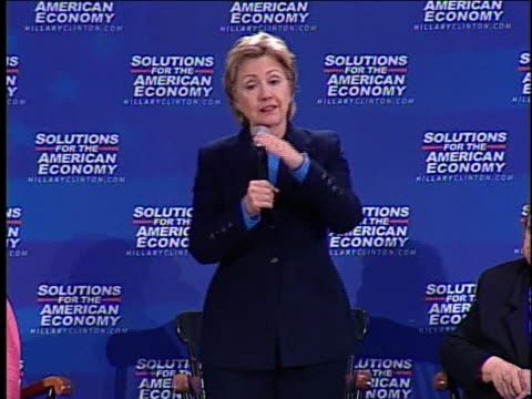 democratic presidential candidate hillary clinton discusses international import-export policies. - business or economy or employment and labor or financial market or finance or agriculture stock videos & royalty-free footage