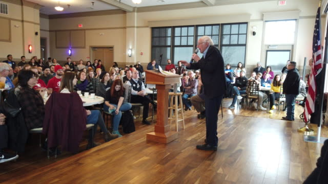 democratic presidential candidate sen. bernie sanders speaks during a campaign event at noah's events venue on december 30, 2019 in west des moines,... - candidate stock videos & royalty-free footage