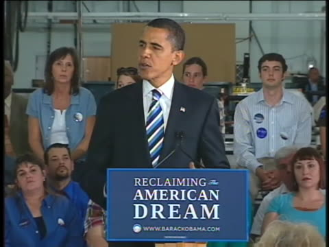 vídeos de stock, filmes e b-roll de us democratic presidential candidate senator barack obama campaigns in cape girardeau missouri - (war or terrorism or election or government or illness or news event or speech or politics or politician or conflict or military or extreme weather or business or economy) and not usa