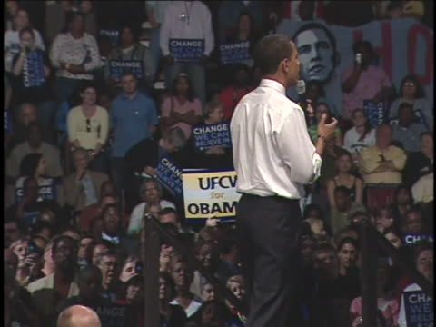 democratic presidential candidate, senator barack obama, speaks at a rally in louisville, kentucky. - 2008 stock videos & royalty-free footage